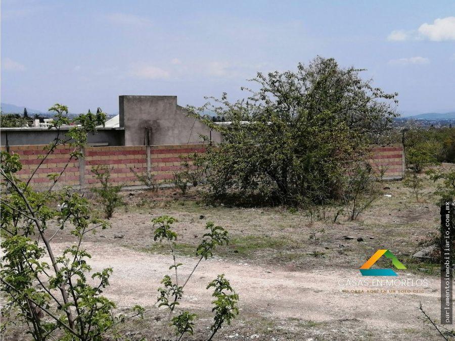 terreno en fraccionamiento privado oaxtepec