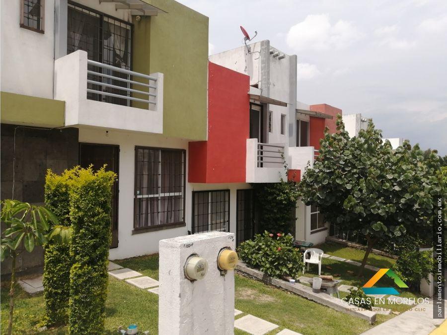 casa en jiutepec 3 recamaras con alberca en condominio