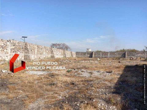 terreno en xochitepec 2585m2 bardeado