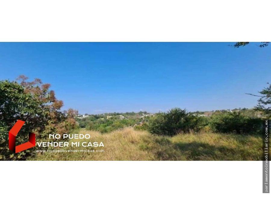 terreno con vista al campo de golf santa fe xochitepec 900 m2
