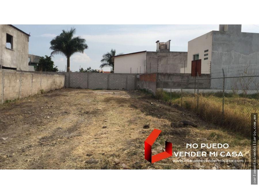 terreno en privada fracc predegal de las fuentes jiutepec