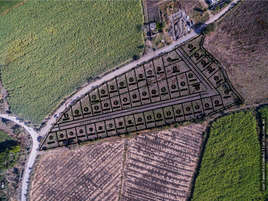 terrenos en venta facilidades a 5 min de oaxtepec