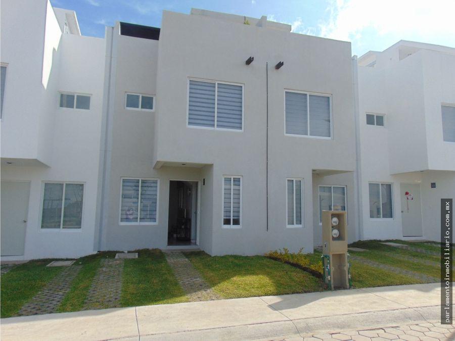 casa en venta con alberca y roof garden en condominio en yecapixtla