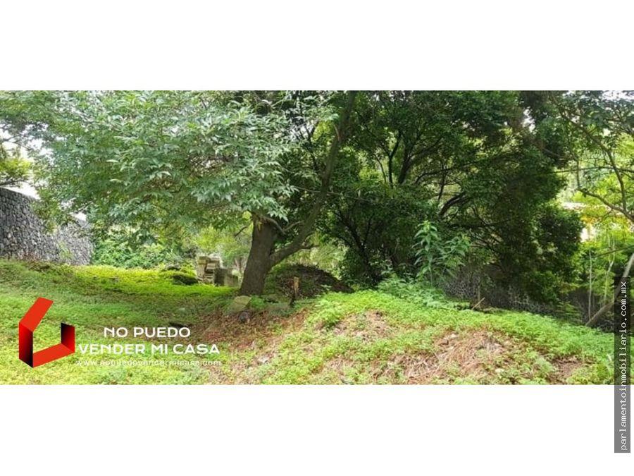 terreno en fraccionamiento los limoneros 2215m2 cuernavaca