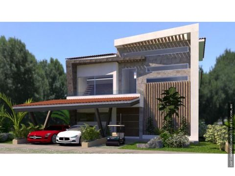 casa en venta en paraiso country club hoyo 8
