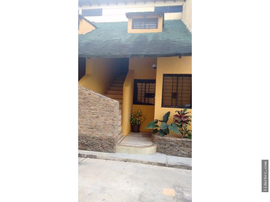townhouse en venta en el manantial naguanagua