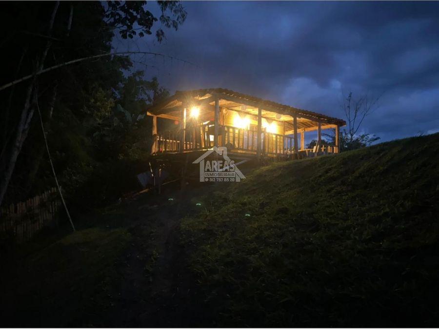 venta de cabana campestre por tebaida