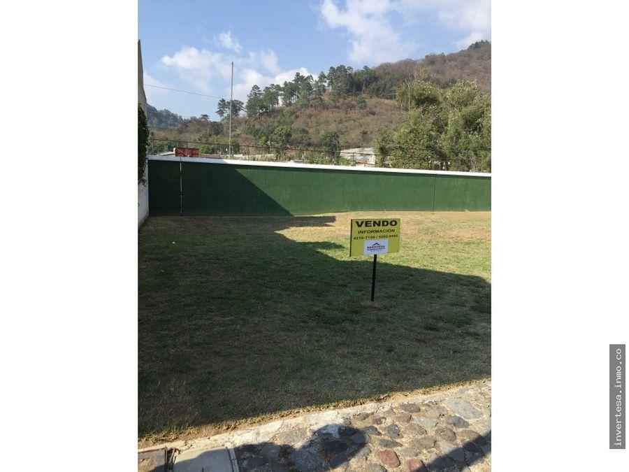 venta terreno en exclusivo condominio las gravileas antigua guatemala