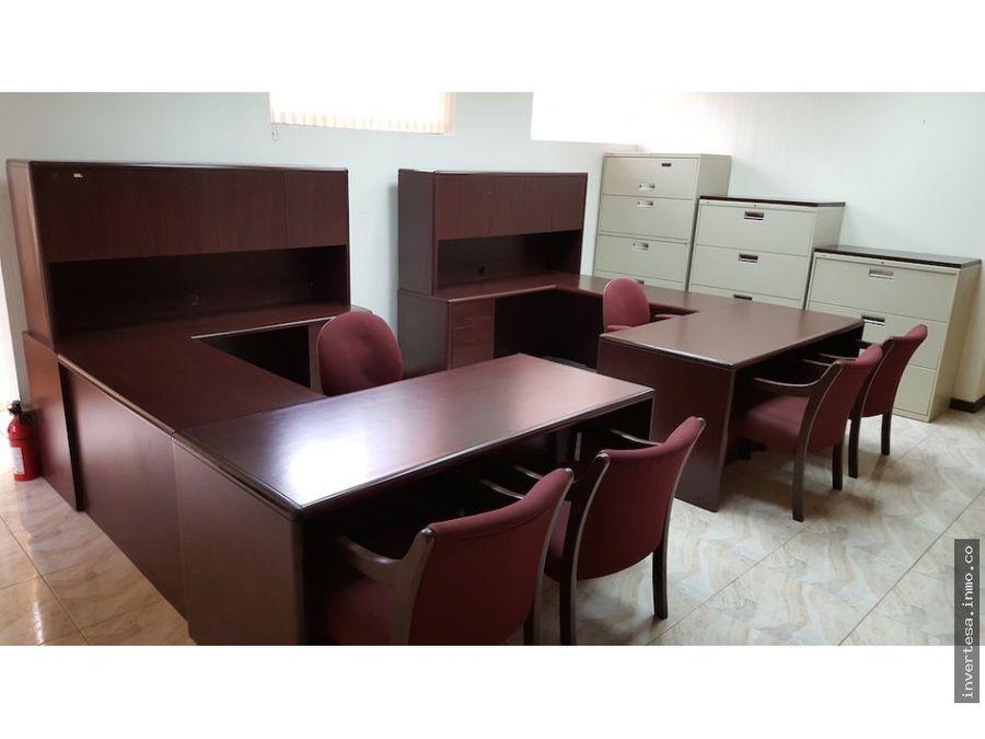 oficina en renta zona 10 totalmente amueblada lista para trasladarse