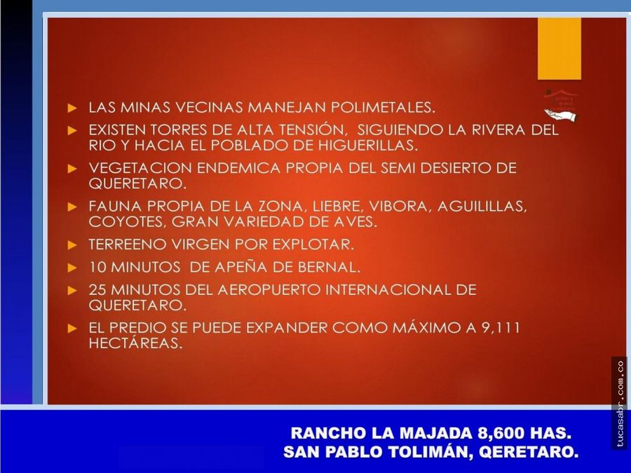 vendo predio de 8600 hectareas en queretaro mexico