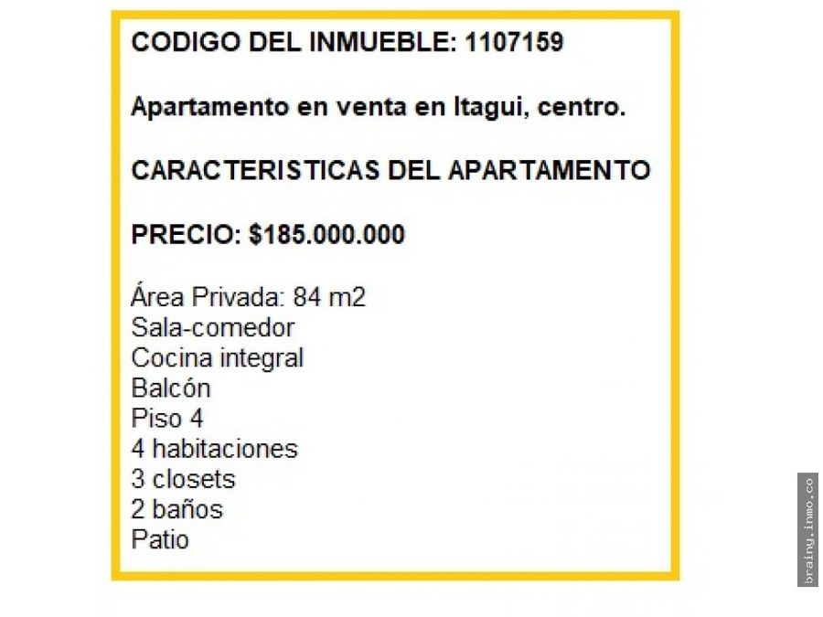 apartamento en venta en itagui centro