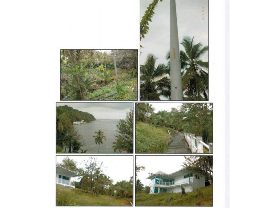 sea confiable vende casa con terreno en isla grande portobello