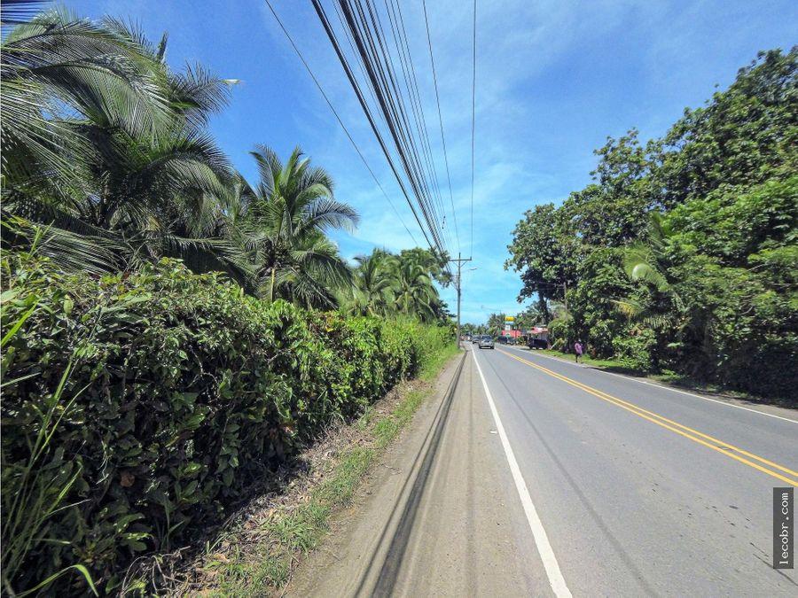 venta terreno comercial puerto viejo cahuita sobre ruta nacional 256
