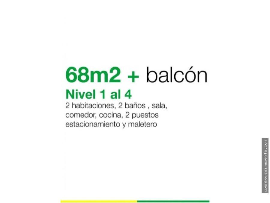 apartamento urb colinas del viento 68m2 balcon