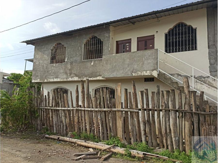 venta de casa rentera al sur de esmeraldas