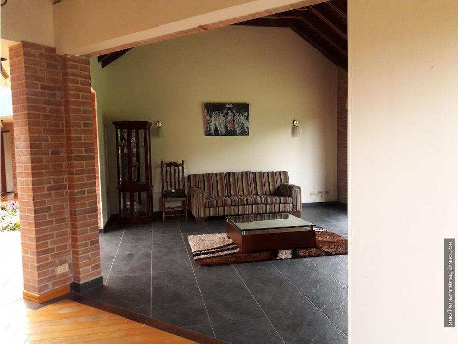 venta casa campestre chia