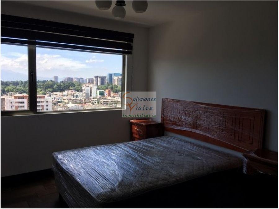 rento apartamento amueblado en zona 10