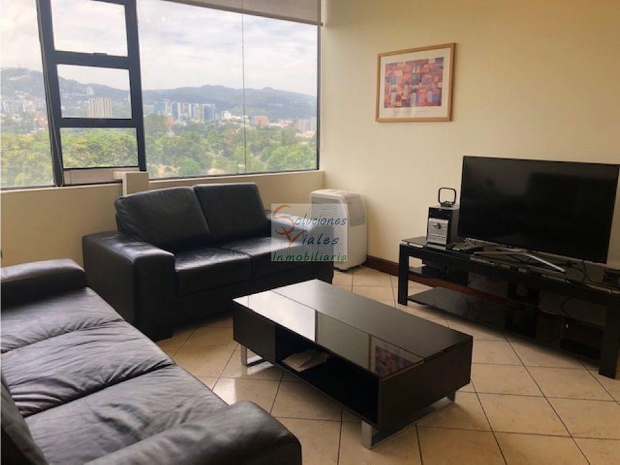 rento apartamento en oakland amueblado y equipado zona 10