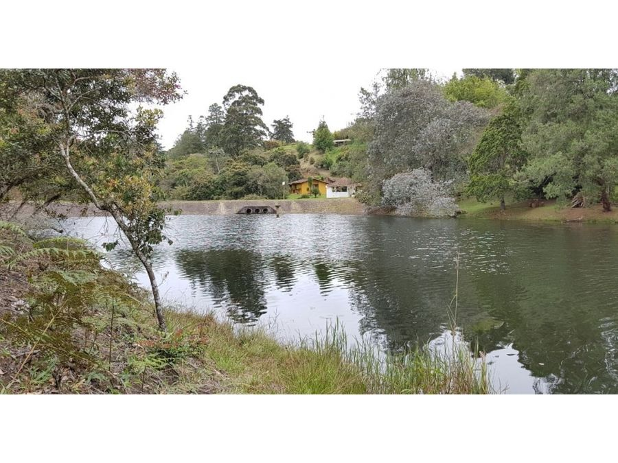 venta lote en parcelacion con lago en vereda aguas claras via la ceja