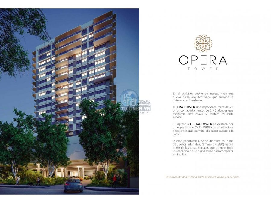 opera tower apartamentos en exclusivo sector de cartagena
