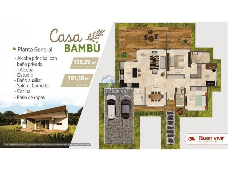 condominio campestre brisases de condina casa bambu
