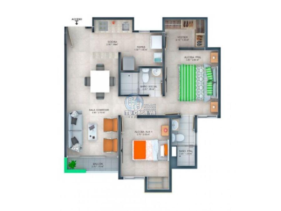 amaru apartamento 2 habitaciones