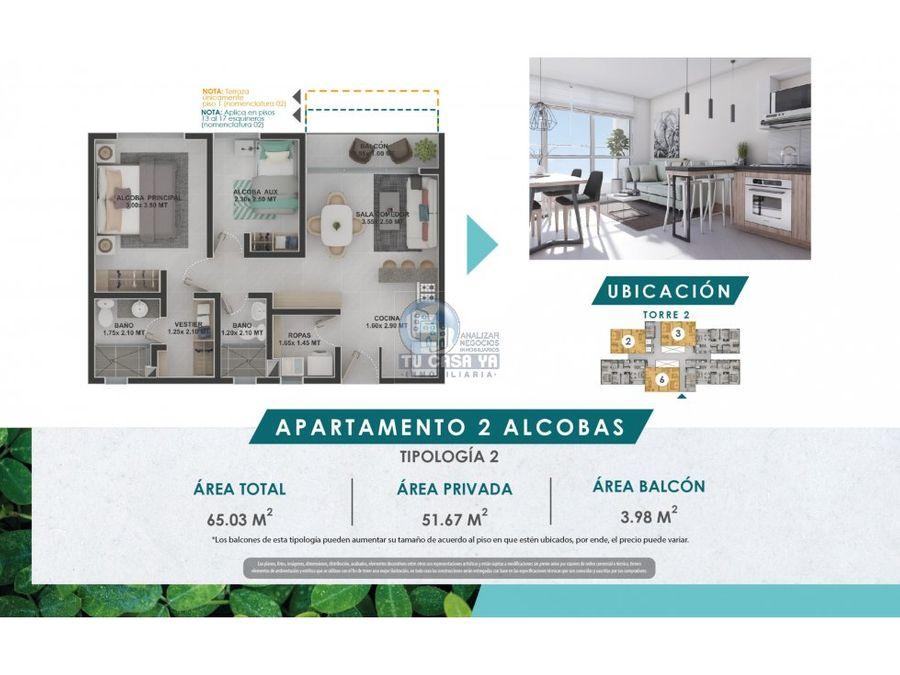 matiz parque residencial apartamento de 2 alcobas