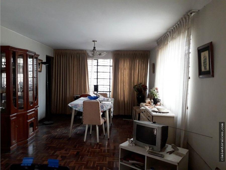 venta casa como terreno san juan de miraflores