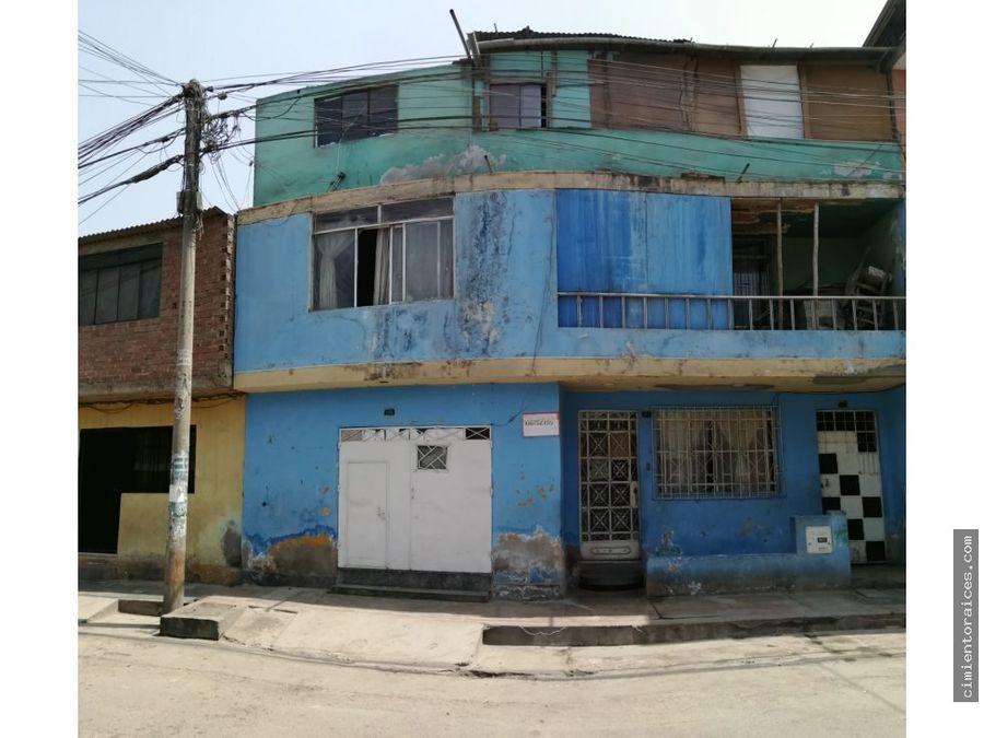 venta casa como terreno villa maria del triunfo