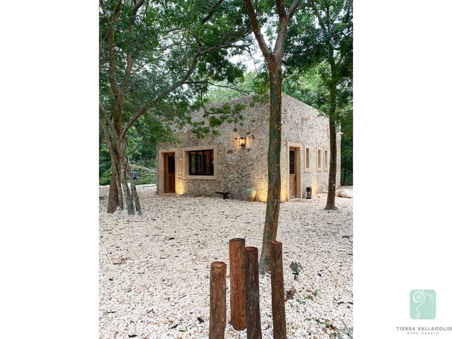casa con cenote en venta en ticuch