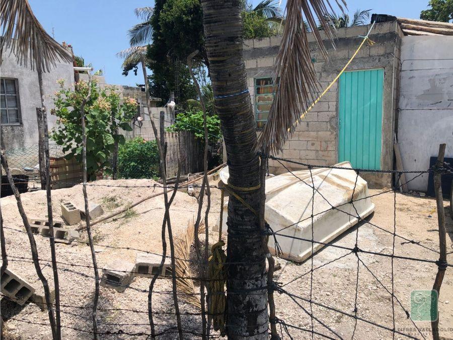 terreno en venta en el cuyo yucatan 5 cuadras de la playa