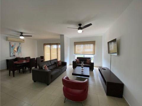 en alquiler hermoso apartamento amoblado de 2 recamaras en ph soleo
