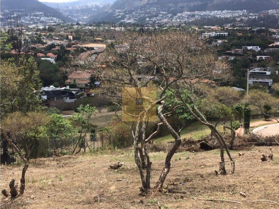 terreno en venta sector santa ines cumbaya