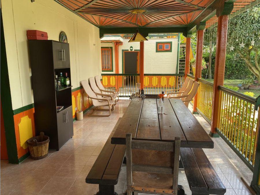 venta finca hotel sector parque del cafe