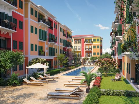 proyecto de apartamentos al estilo portofino