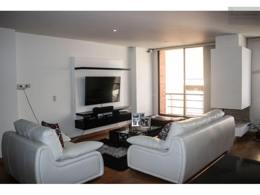 vendo penthouse duplex con terraza santa barbara bogota