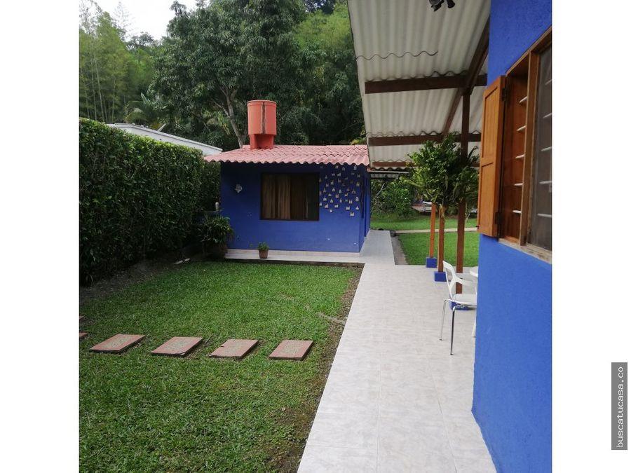 vendo casa campestre en la vega cundinamarca