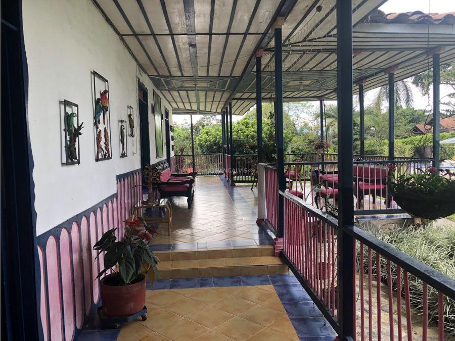 venta finca hotel cerca parque del cafe