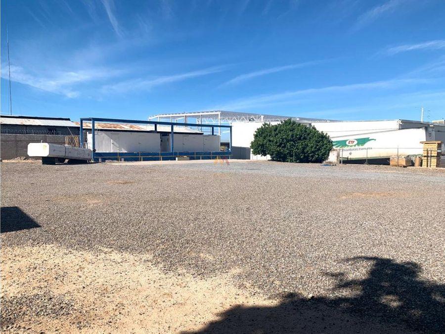 venta terreno en el parque industrial hermosillo