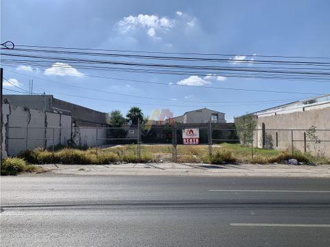 renta terreno comercial 500 m2 por calle nayarit en hermosillo