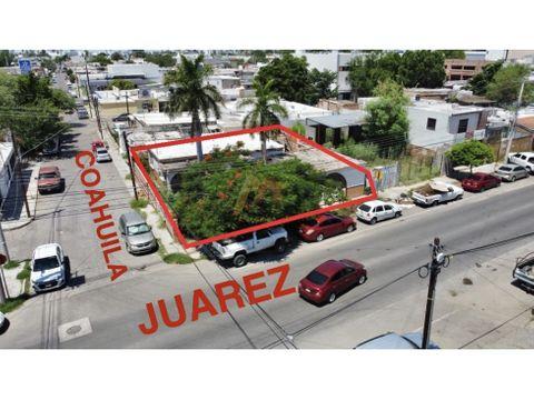 se renta como terreno 326 m2 esquina col centro hermosillo