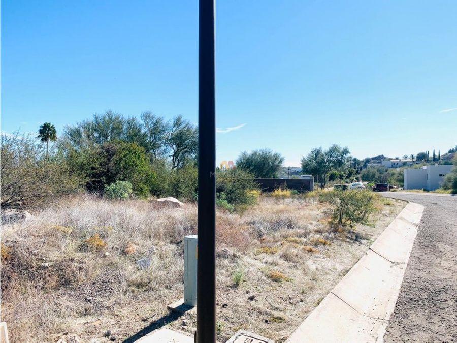 terreno de 1519 m2 en hacienda hermosillo