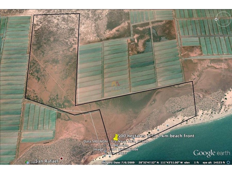 terreno de 523 hectareas en bahia de kino sonora