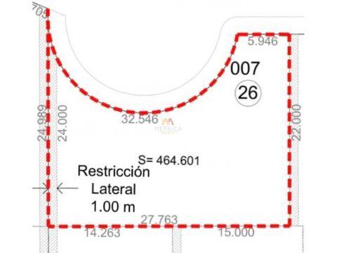 lote residencial concordia 464m2