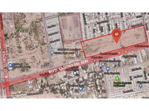 terreno comercial 40000 m2 blvd camino del seri en hermosillo