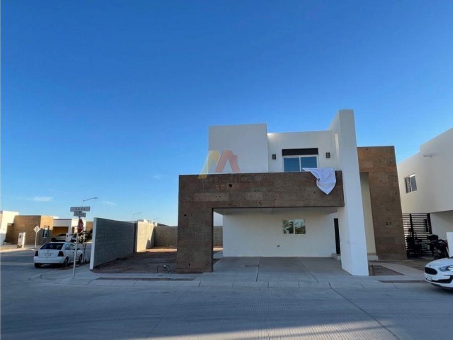 la coruna hermosillo casa nueva en esquina