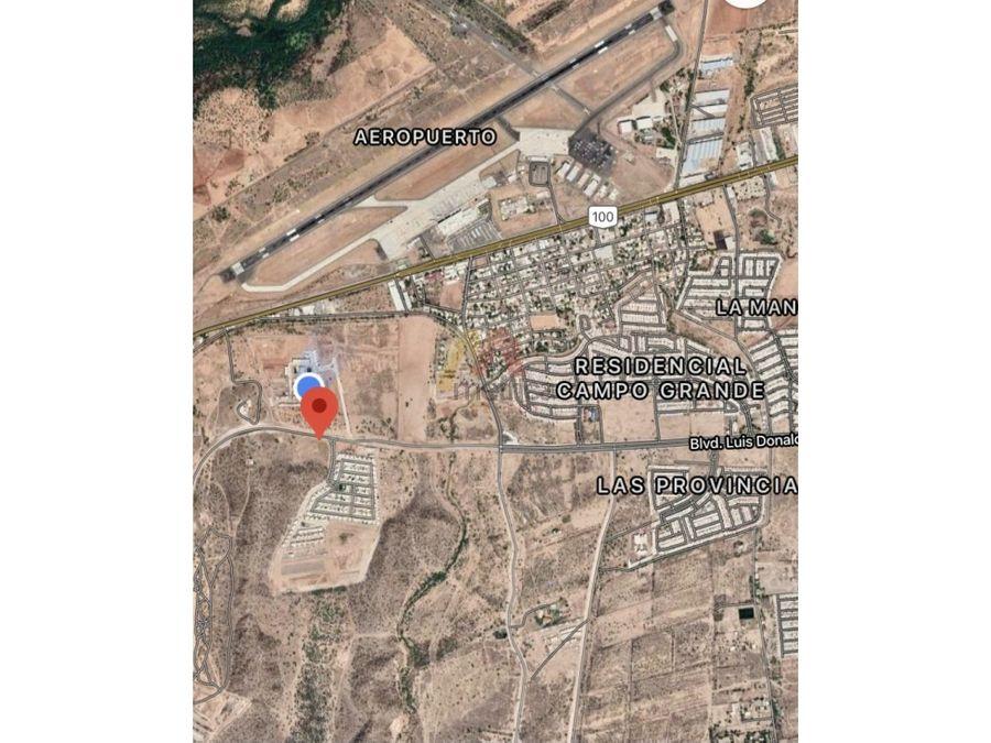 terreno comercial de 13000 m2 en la coruna hermosillo