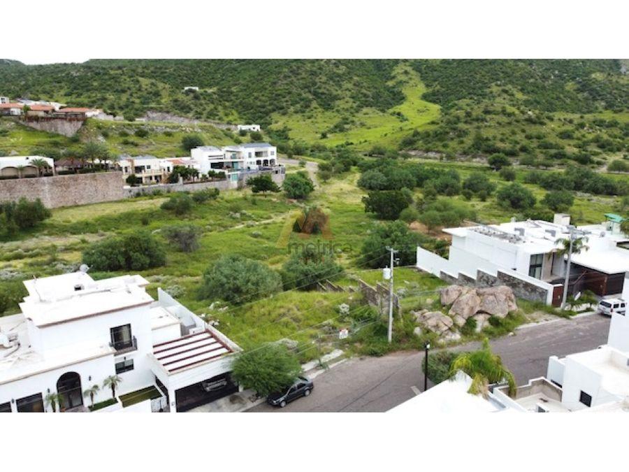 terreno residencal cumbres hermosillo con espectacular vista