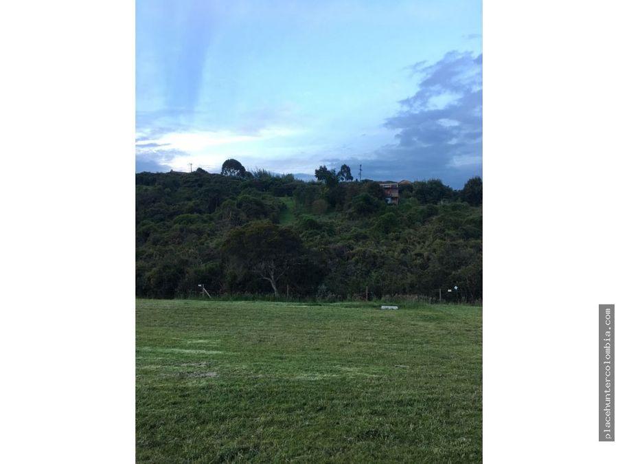 vendo lote con espectacular vista al valle de sopo