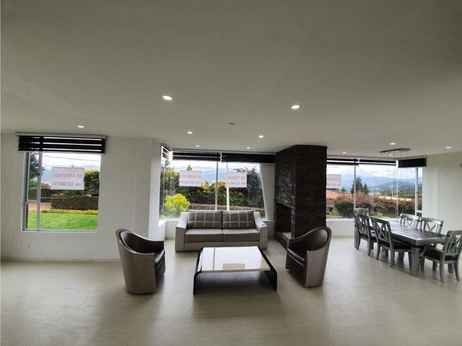 espectacular casa con vista al valle de sopo